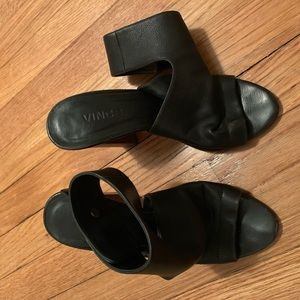 Vince Black Sandals with Ankle Strap size 6.5